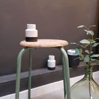 Stool with Green Metal Legs